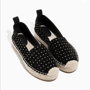 & Other Stories Suede Flat stuffed espadrilles 9.5